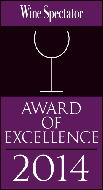 Wine Spectator Award of Excellence 2014